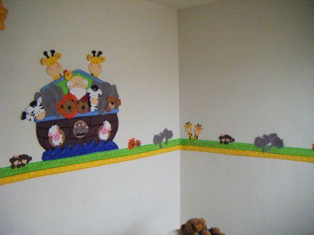 Arca de noe decoraci n de habitaci n con cenefa - Cenefas para habitaciones ...